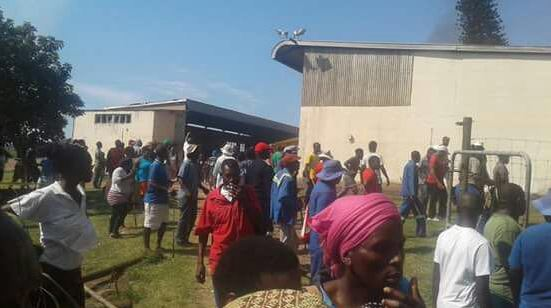 Angry residents in the farming district of eShowe.