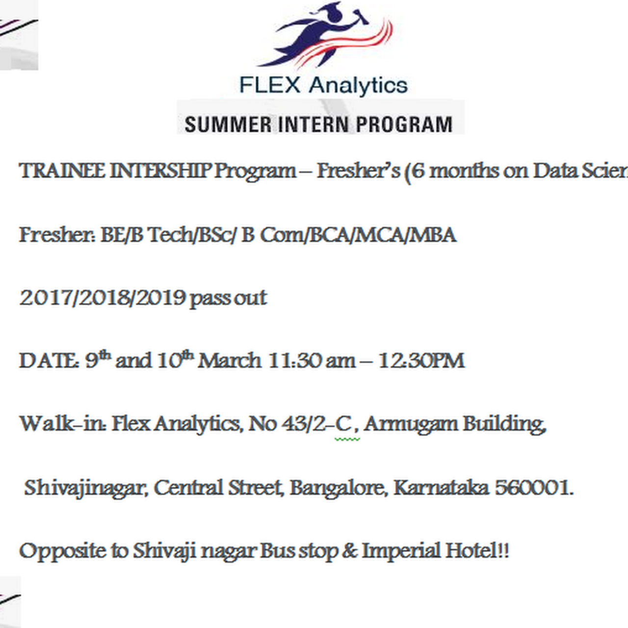 FLEX ANALYTICS - DATA SCIENCE Training in Bangalore | Python |SAS