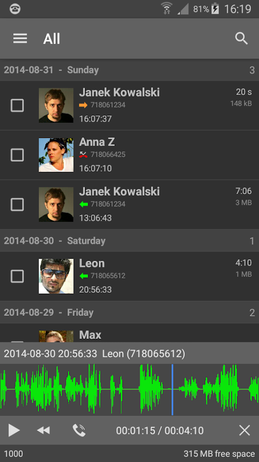 FonTel - Call Recorder- screenshot