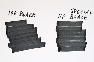 Photo: Difference between Copic 110 and 100 Black http://www.parkablogs.com/node/11320