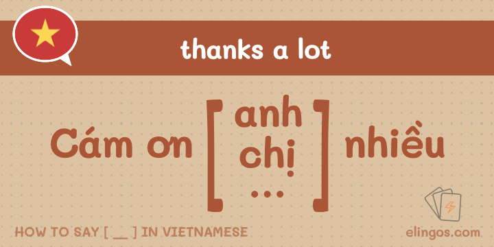 Emphasize gratitude in Vietnamese