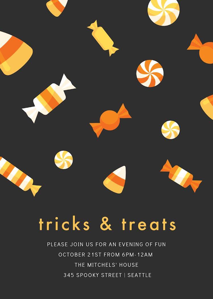 Tricks & Treats - Halloween Template