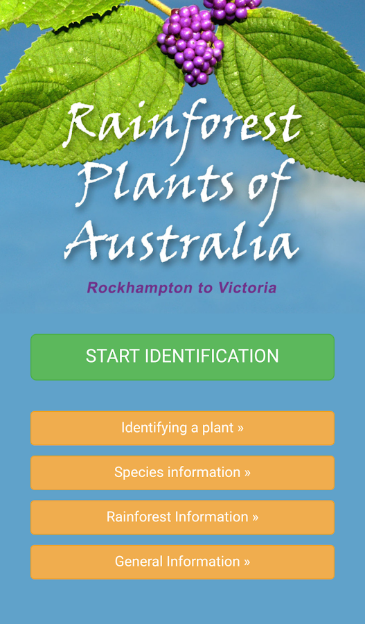 Rainforest Plants of Australia- screenshot