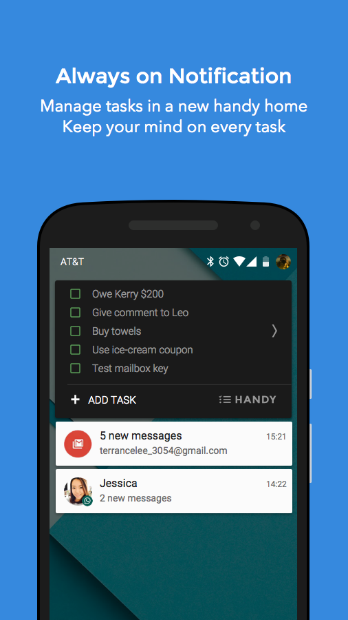 To-Do List on Notification- screenshot
