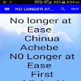 No longer at ease icon