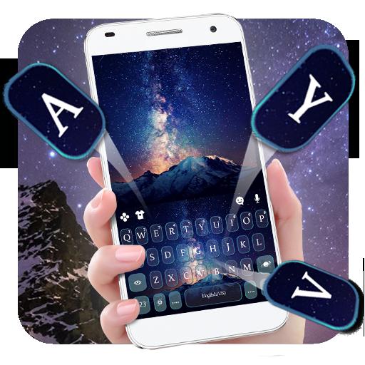 Galaxy Mountains Keyboard Theme Icon