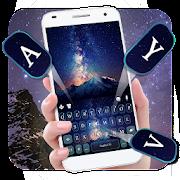 Galaxy Mountains Keyboard Theme