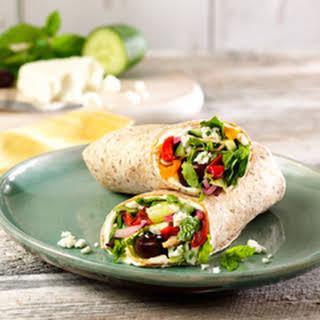 Mediterranean Veggie Wraps.