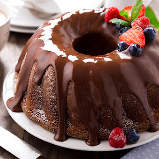 Deeply Chocolate Cake with Raspberry Flavor.