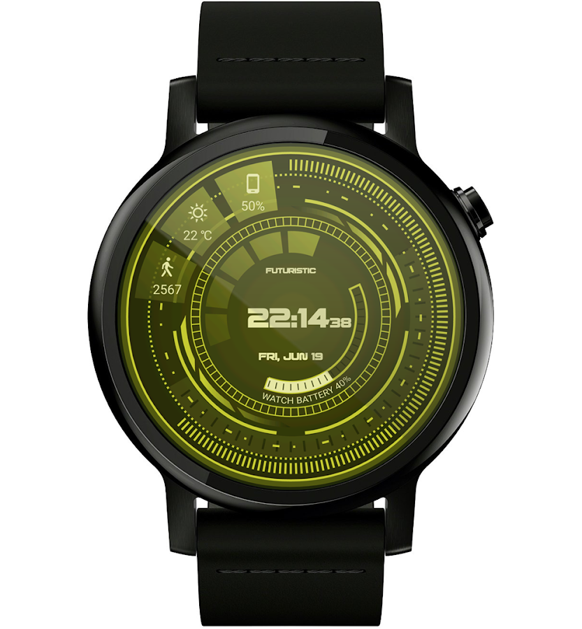 Futuristic GUI Watch Face- screenshot