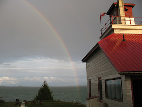 Photo: Rainbow at the McKay Island Lighthouse