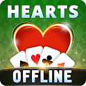 Hearts Offline - Single Player Free Hearts Game icon