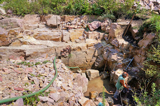 Photo: A quarry being worked as we observed.