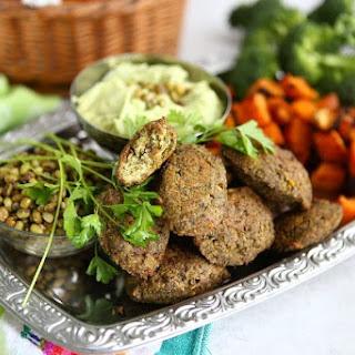 Broccoli Mung Bean Falafel.