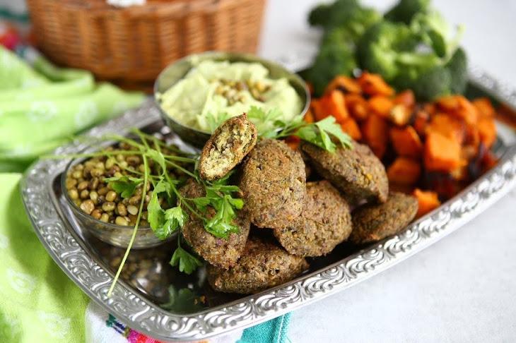 Broccoli Mung Bean Falafel Recipe