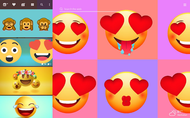 Funny Emoji HD Wallpapers New Tab Theme