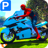Tải Game Superheroes Bike Parking