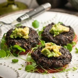 Raw Food Sweet Potato Mushroom Sliders.