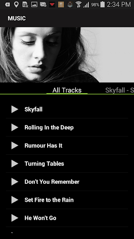 android Adele Screenshot 2
