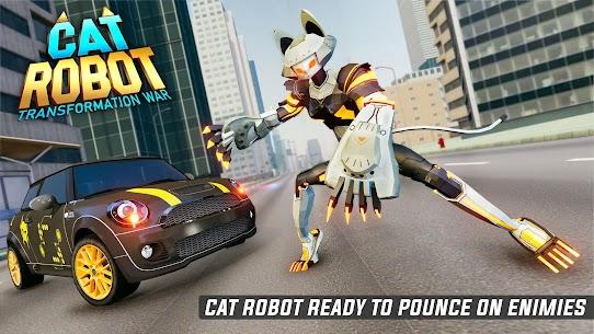 Cat Robot Car Game – Car Robot War 5