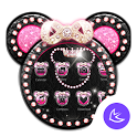 Pink Mickey Diamond Bowknot – APUS launcher theme icon