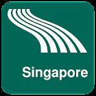 Singapore Map offline icon