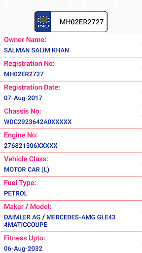 How to find Vehicle Car Owner detail from Number screenshots 2