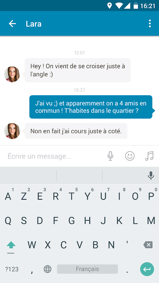 Rencontre happn