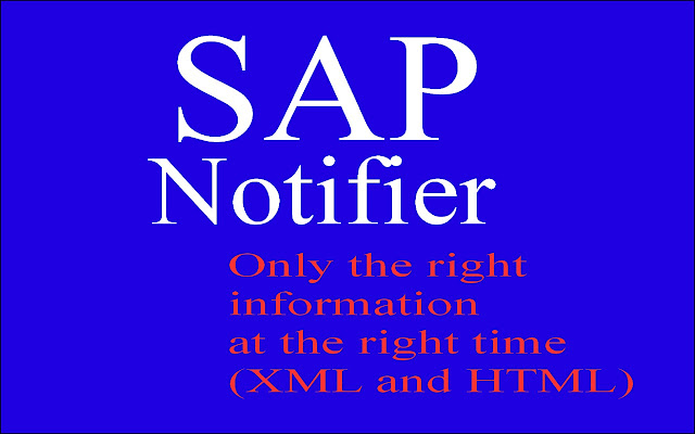 Sap Notifier