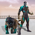 Flying Panther Speed Robot Hero: Gangster Attack