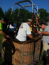 Photo: Putting the basket together.