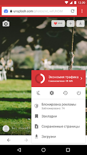 Браузер Opera Mini Screenshot