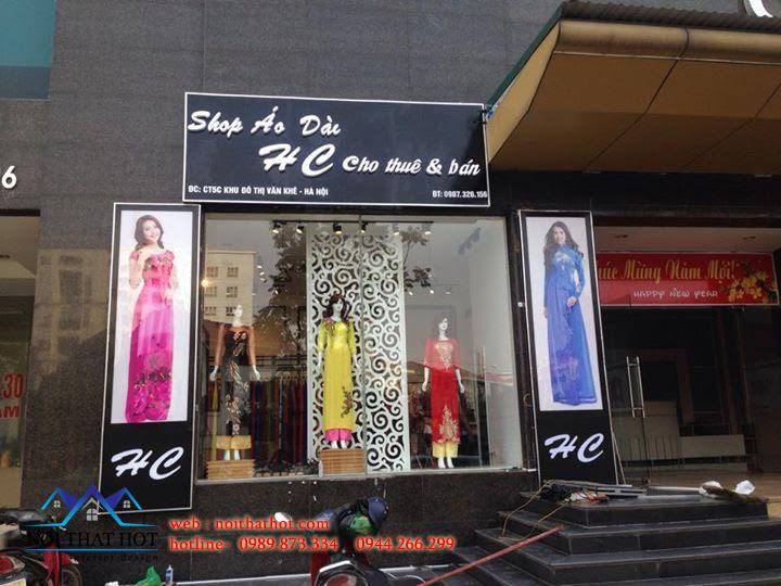 thiết kế shop áo dài của chị Hạnh
