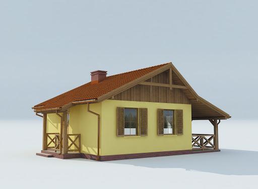 projekt Bazylea dom letniskowy szkielet drewniany