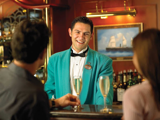 Do you tip your bartender after he brings you a cocktail? Generally no, because the tip is automatically added to your bill.