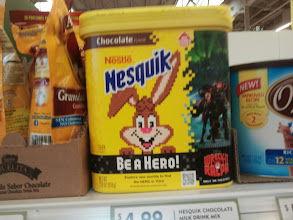 Photo: Spotted this 8 bit Nesquik bunny at the store- then I realized it was a Wreck-it-Ralph tie in!