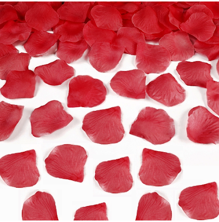 Rosenblad silke - Röd 500 st