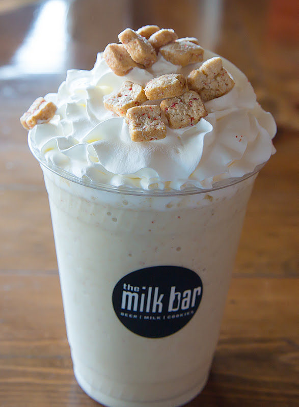 photo of a Strawberry Tiny Toast Cereal Milkshake