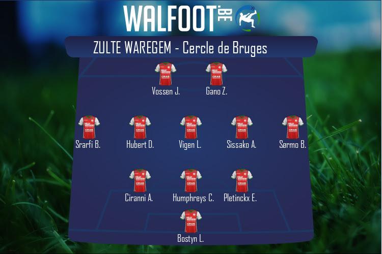 Zulte Waregem (Zulte Waregem - Cercle de Bruges)