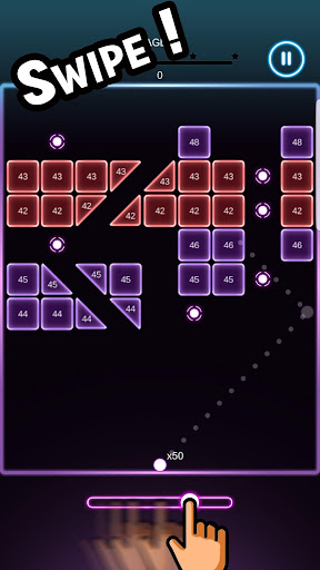 Swipe Brick Blast screenshot 1