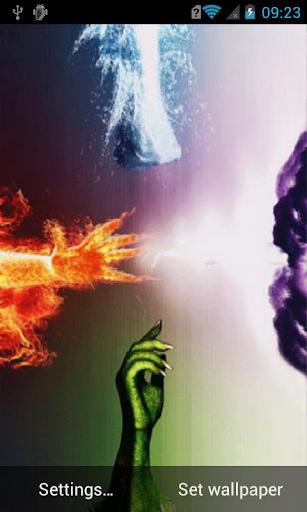 Four elements Live Wallpaper