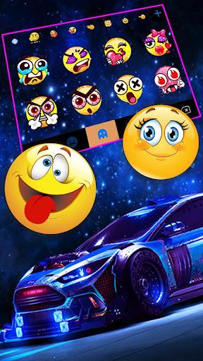 Racing Sports Car Keyboard Theme screenshots 4