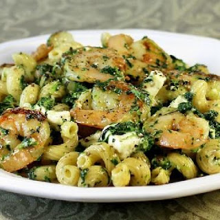 Greek Shrimp And Spinach Pasta