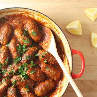 Greek Meatballs in Fragrant Tomato Sauce.
