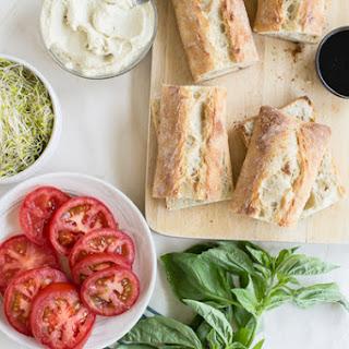 Vegan Caprese Sandwiches with Garlic Cashew Cheese