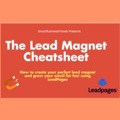 Lead magnet cheatsheet