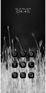 Blackness White Icon Pack Screenshot