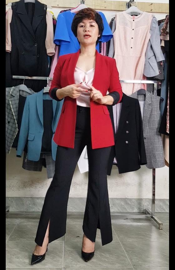 mix đồ áo Vest Nữ với quần Ống Loe thời trang thuỷ hà nội