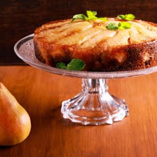 Upside Down Pear Gingerbread Cake.