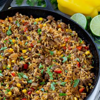 Tex Mex Beef & Rice Skillet